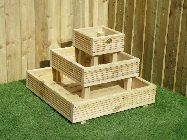 Nook Corner Steps 3 Tier Decking Garden Planter