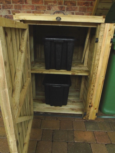 Wheelie Bin Dust Bin Recycling Shelter Natural Size Options