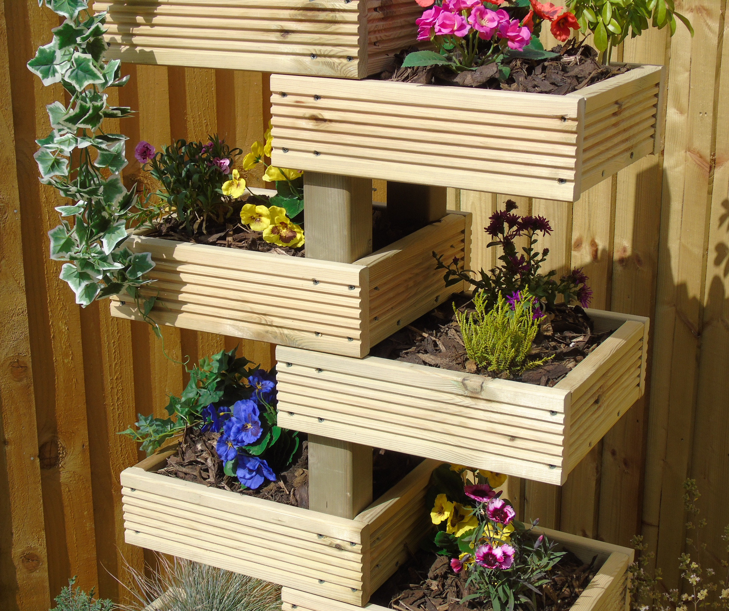 High Rise Decking Tower Planter Centre Piece Display